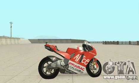 Ducati Alice GP para GTA San Andreas vista posterior izquierda