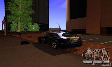 BMW M3 GTR para GTA San Andreas left