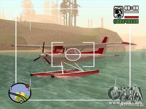 Cessna 152 opción del agua para la visión correcta GTA San Andreas