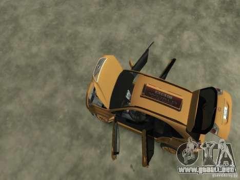 Lexus RX400 New York Taxi para GTA 4 vista desde abajo