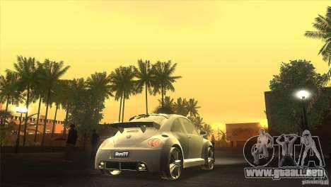 Volkswagen Beetle Tuning para visión interna GTA San Andreas