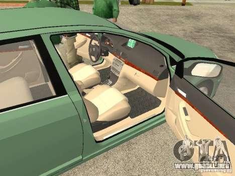 Toyota Avensis V2.0 para GTA San Andreas vista hacia atrás