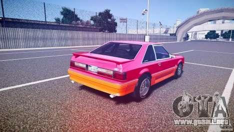 Ford Mustang GT 1993 Rims 2 para GTA 4 vista lateral