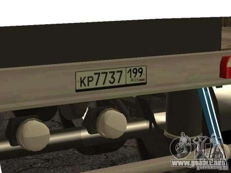 Doce ruedas semi-remolque-volquete TONAR 95231 para la visión correcta GTA San Andreas