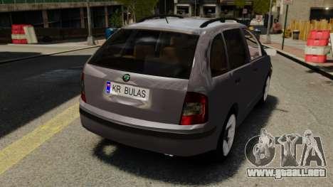 Skoda Fabia Combi para GTA 4 vista hacia atrás