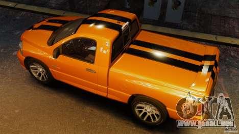 Dodge Ram SRT-10 2006 EPM para GTA 4 visión correcta