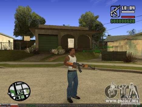 Pak armas para GTA San Andreas segunda pantalla