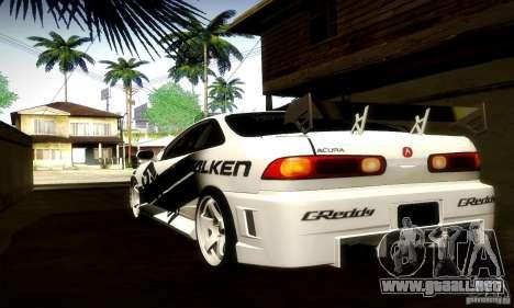 Acura Integra Type R para GTA San Andreas vista hacia atrás