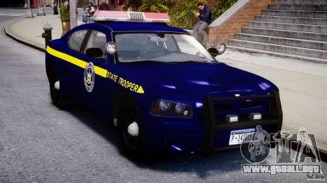 Dodge Charger NY State Trooper CHGR-V2.1M [ELS] para GTA 4 vista interior
