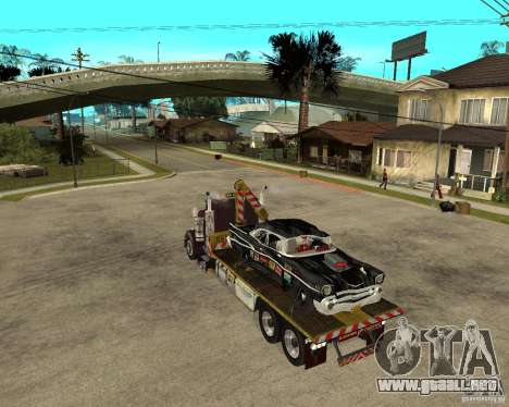 Kenworth W900 SALVAGE TRUCK para GTA San Andreas left