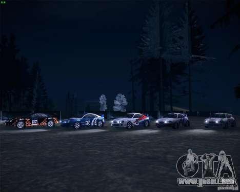 Toyota Celica ST-205 GT-Four Rally para visión interna GTA San Andreas