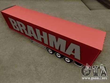 Trailer de Scania R620 Brahma para la vista superior GTA San Andreas