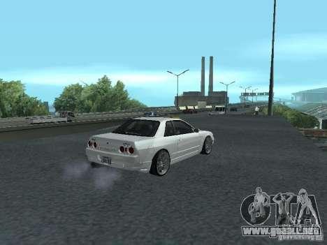 Nissan Skyline R32 Zenki para GTA San Andreas vista hacia atrás