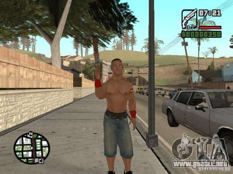 John Cena para GTA San Andreas sucesivamente de pantalla