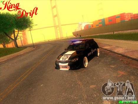 Subaru Impreza WRX Police para GTA San Andreas