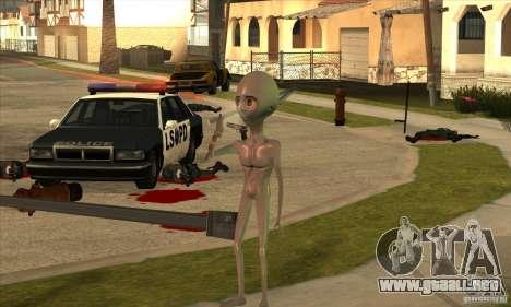 Alien para GTA San Andreas sexta pantalla