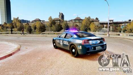 POLICIA FEDERAL MEXICO DODGE CHARGER ELS para GTA 4 left
