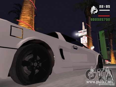 Infernus - beta - v.1 para GTA San Andreas vista posterior izquierda