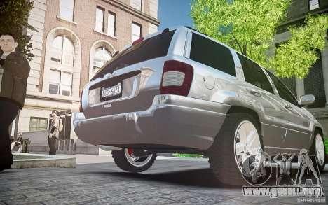 Jeep Grand Cheroke para GTA 4 vista interior