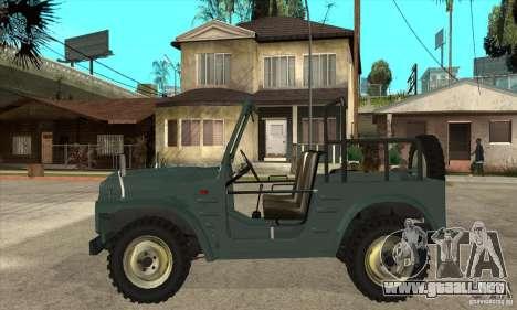 Suzuki Jimny para GTA San Andreas left