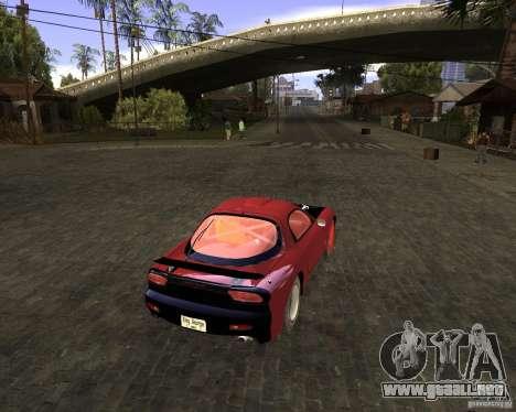 Mazda RX-7 Drifter para GTA San Andreas vista posterior izquierda