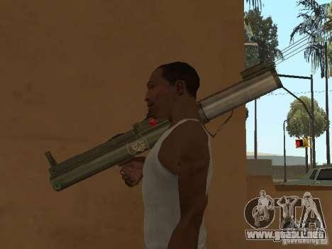 LAW Rocket launcher para GTA San Andreas sucesivamente de pantalla