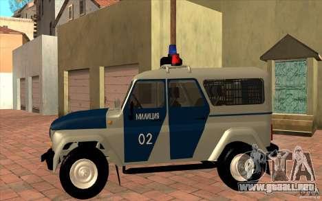 Policía Bobik UAZ-3159 v. 2 para GTA San Andreas left
