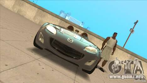 Mazda MX5 Miata Superlight 2009 V1.0 para vista lateral GTA San Andreas