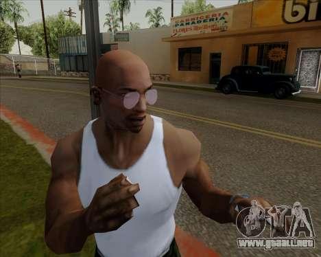 Rosa gafas de aviador para GTA San Andreas quinta pantalla