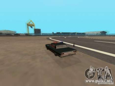 Police Savanna para GTA San Andreas vista hacia atrás