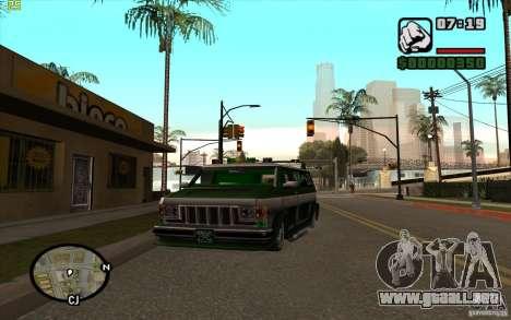 Grove Street Gang Burrito para GTA San Andreas left