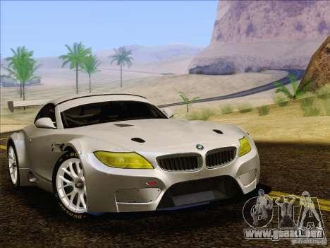 BMW Z4 E89 GT3 2010 Final para GTA San Andreas vista posterior izquierda