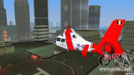 Eurocopter As-365N Dauphin II para GTA Vice City vista posterior
