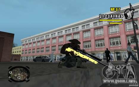 Gold Weapon Pack v 2.1 para GTA San Andreas quinta pantalla