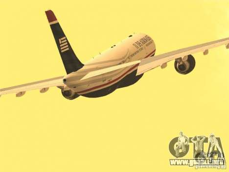 Airbus A330-300 US Airways para visión interna GTA San Andreas