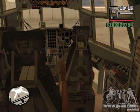 C-130 hercules para GTA San Andreas interior