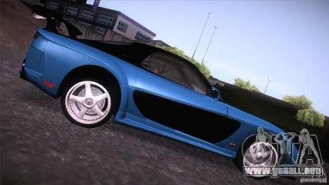 Mazda RX-7 Veilside v3 para GTA San Andreas vista posterior izquierda