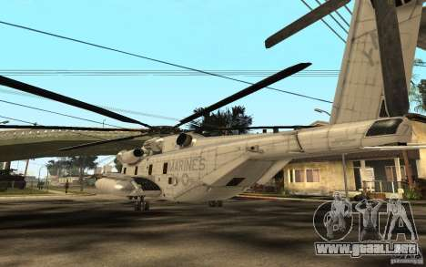 CH 53E para GTA San Andreas vista posterior izquierda
