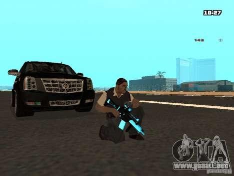 Black & Blue guns para GTA San Andreas tercera pantalla