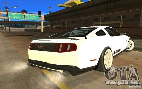 Shelby Mustang 1000 2012 para GTA San Andreas left