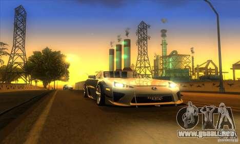 ENB Graphics by KINOman para GTA San Andreas quinta pantalla
