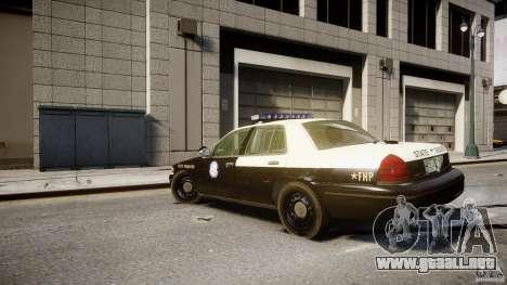 Ford Crown Victoria Fl Highway Patrol Units ELS para GTA 4 Vista posterior izquierda