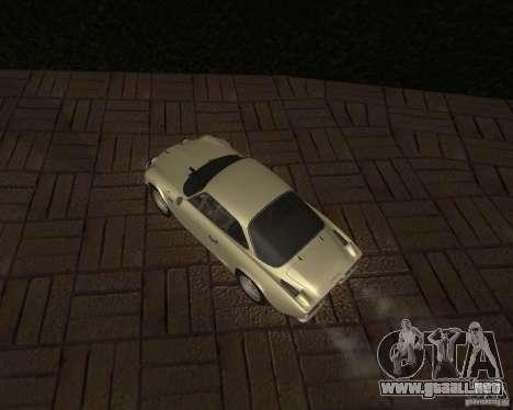 Renault Alpine 110 para GTA San Andreas vista hacia atrás
