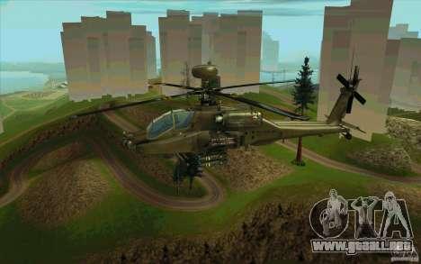 Apache AH64D Longbow para la vista superior GTA San Andreas