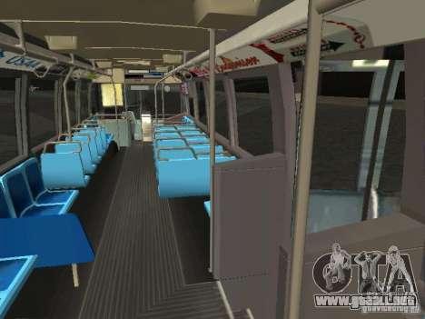 GMC RTS MTA New York City Bus para visión interna GTA San Andreas