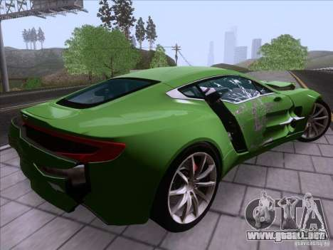 Aston Martin One-77 2010 para GTA San Andreas interior