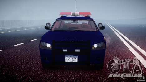 Dodge Charger NY State Trooper CHGR-V2.1M [ELS] para GTA 4 vista desde abajo