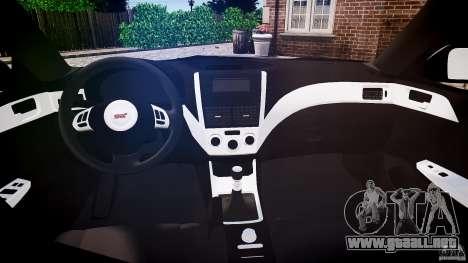 Subaru Impreza WRX 2011 para GTA 4 visión correcta