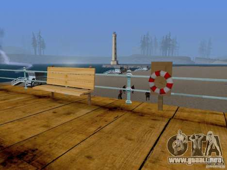 Playa nueva textura v2.0 para GTA San Andreas segunda pantalla