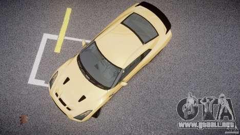 Nissan GTR R35 SpecV v1.0 para GTA 4 vista hacia atrás